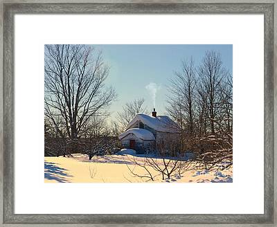 Red Door Framed Print by Russie Marshall