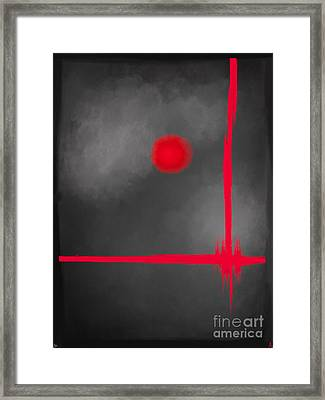 Red Dot Framed Print