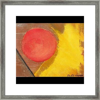 Red Dot Framed Print by David s Newsome