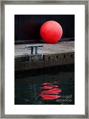 Red Dot Framed Print