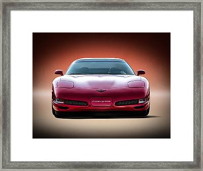 Red Framed Print by Douglas Pittman