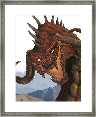 Red Dragon Framed Print by Matt Kedzierski