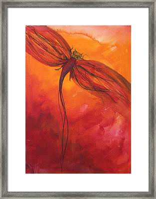 Red Dragonfly 2 Framed Print