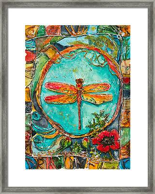 Red Dragonfly Framed Print by Patricia Allingham Carlson