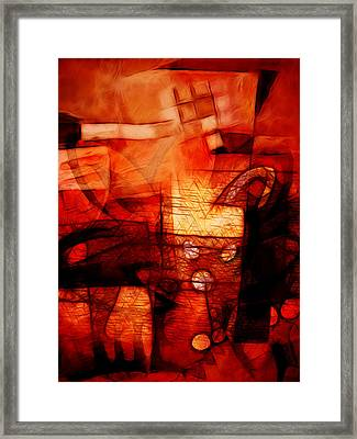 Red Drama Framed Print by Ann Croon
