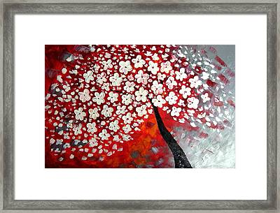 Red Dream Framed Print by Mariana Stauffer