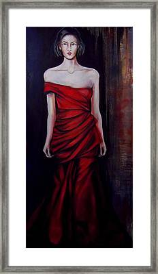 Framed Print featuring the painting Red Dress by Irena Mohr