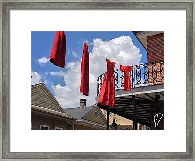 Red Dress Lineup  Framed Print