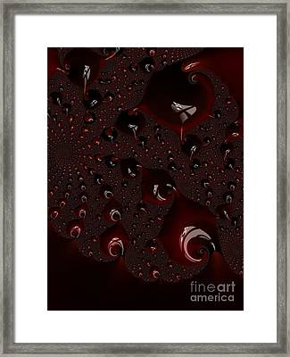 Red Droplets  Framed Print by Heidi Smith