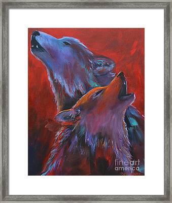 Red Dusk Framed Print by Cher Devereaux