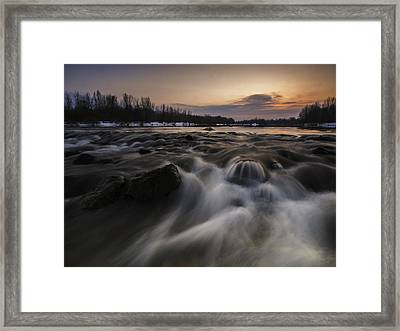 Red Dusk Framed Print