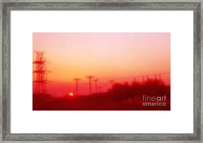 Red Dusk Framed Print by Elena Nosyreva