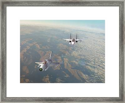 Red Eagle In Sight Framed Print by Dorian Dogaru