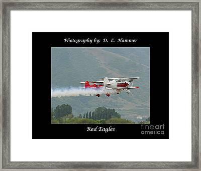 Red Eagles Framed Print by Dennis Hammer