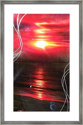 Ocean - ' Red Earth ' Framed Print