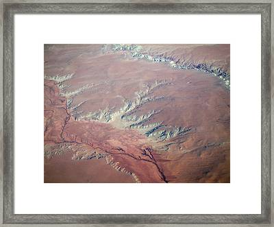 Red Earth Framed Print by Pamela Schreckengost