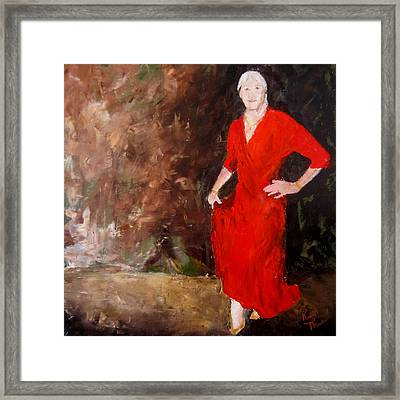Framed Print featuring the painting Red Ellegance by Keith Thue
