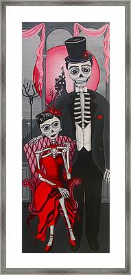 Red Engagement - Frida Y Diego Framed Print by Evangelina Portillo