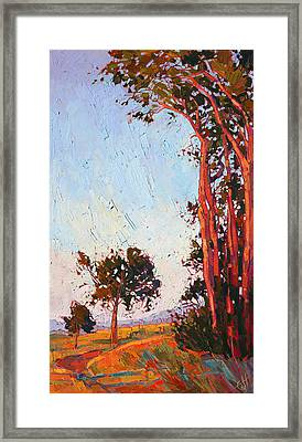 Framed Print featuring the painting Red Eucalyptus  by Erin Hanson