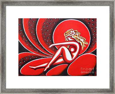Red Evening Framed Print by Joseph Sonday