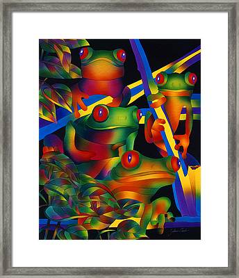 Red Eyed Frogs Framed Print
