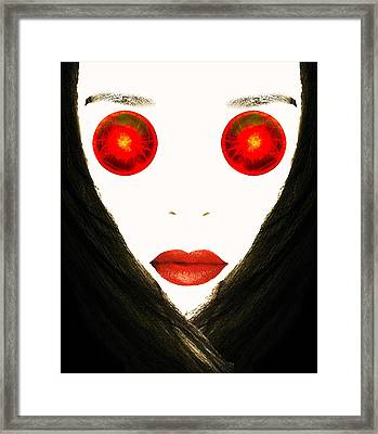 Red Eyes Framed Print by Bruce Iorio