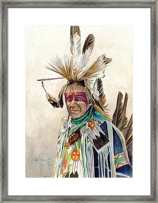 Red Face Paint Framed Print