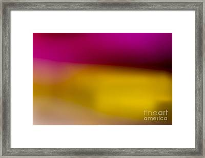 Red Fade To Gold Framed Print by Marvin Spates