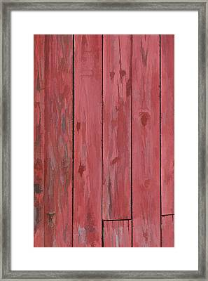 Red Faded Barn Boards Framed Print