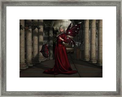 Red Faerie Queen Framed Print
