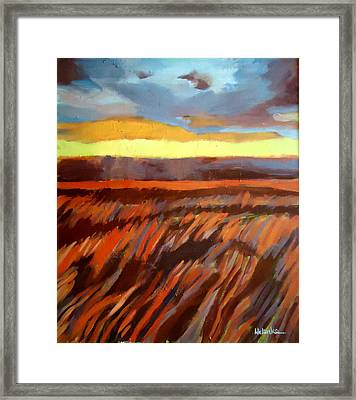 Framed Print featuring the painting Red Field by Helena Wierzbicki