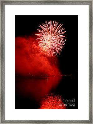 Red Fire Framed Print by Martin Capek