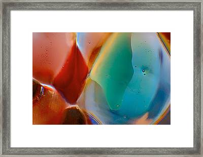 Red Fish Green Fish Framed Print by Omaste Witkowski