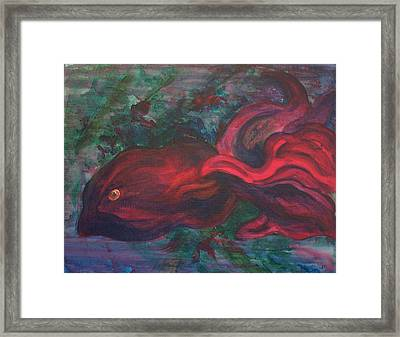 Red Fish Framed Print by Sheri Lauren Schmidt