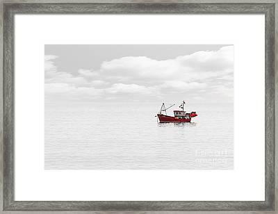 Red Fishing Trawler Framed Print