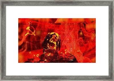 Red Flag Framed Print