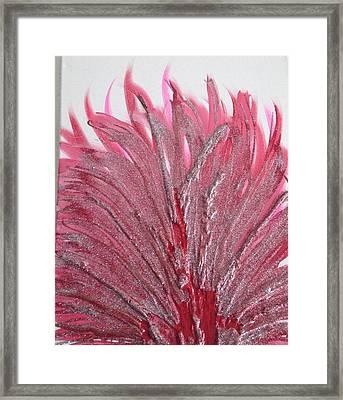 Red Flame Framed Print by Vita Pesin