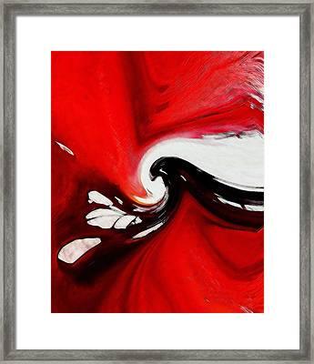Red Flood Framed Print by Steve K