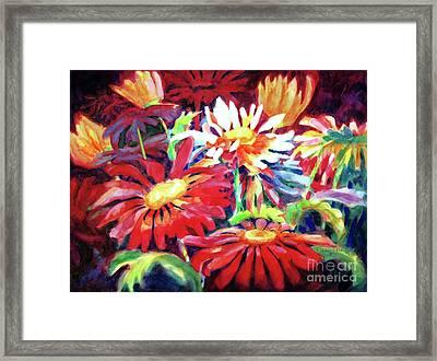 Red Floral Mishmash Framed Print