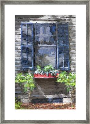 Red Flower Box St Augustine Painted  Framed Print by Rich Franco