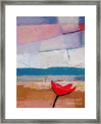 Red Flower Framed Print by Lutz Baar