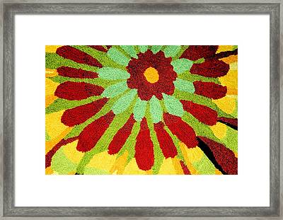 Framed Print featuring the photograph Red Flower Rug by Janette Boyd