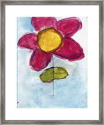 Red Flower Framed Print by Skip Nall