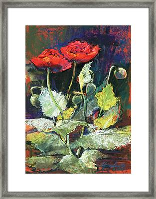 Red Flowers Framed Print by Beverly Amundson