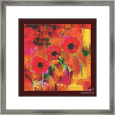 Red Flowers Framed Print by Nedunseralathan R