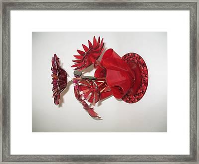 Red Flowers Framed Print by Steven Schramek