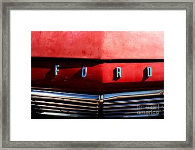 Red Ford 1 Framed Print by Kathlene Pizzoferrato