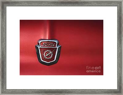 Red Ford 2 Framed Print by Kathlene Pizzoferrato