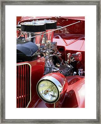 Red Ford Framed Print by Bob Slitzan