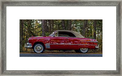 Red Ford Framed Print by Capt Gerry Hare
